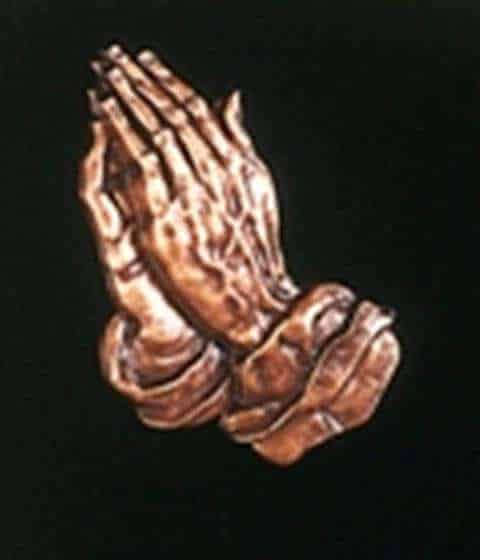Bronze hands in Prayer BRZ003,4,5,6