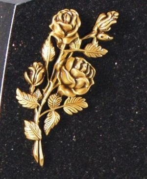 Bronze rose Ornament 1984