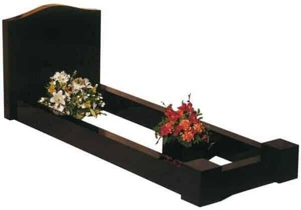 EC100 Headstone and Surround Memorial