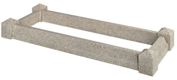 EC102 Splayed Kerb Grave Surround
