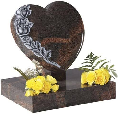 EC151 Shaped Heart with Carved Roses