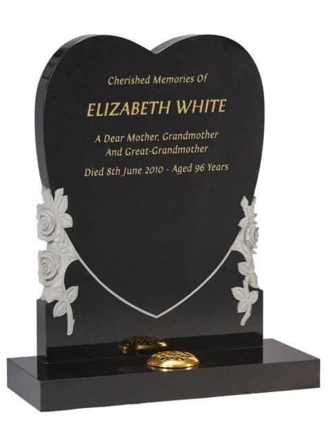 EC155 Upright Heart Memorial