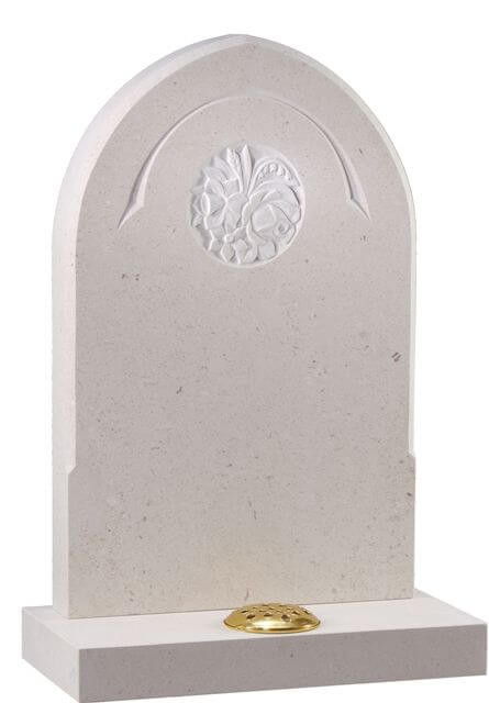 EC179 Traditional Memorial with Carved Panel