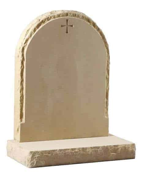 EC180 Arc Top Rustic Headstone