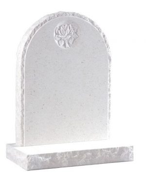 EC182 Traditional Memorial with Carved Rose