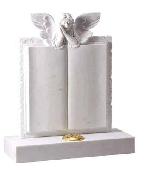 EC190 Marble Book Memorial with Angel