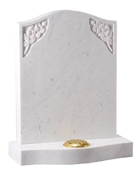 EC192 Curved top Memorial with Wild Roses