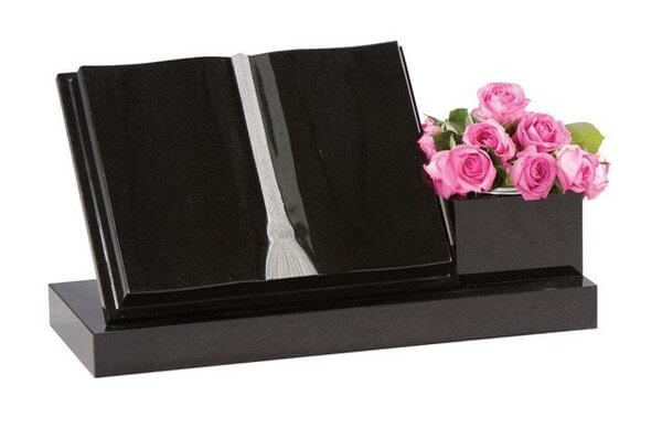 EC240 Book Memorial with Side Vase