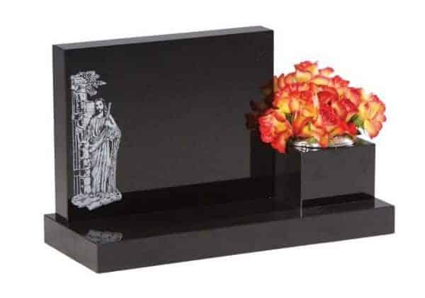 EC242 Cremation Memorial with Side Vase