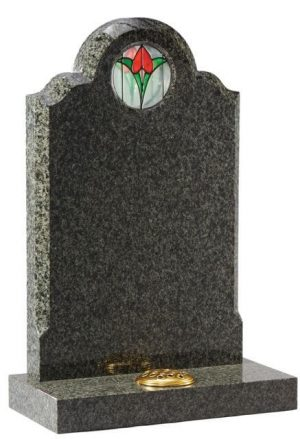 EC50 Stained Glass Ocean Green Granite Memorial