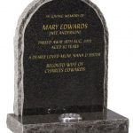 EC65 Natural Rustic Boulder Memorial