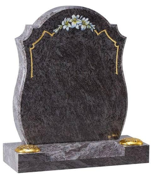 EC8 Bahama Blue Memorial with Lily Ornament