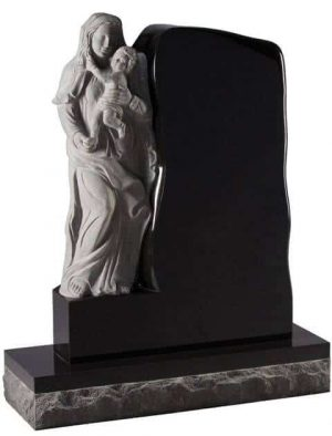 EC86 Carved Mother and Child Headstone