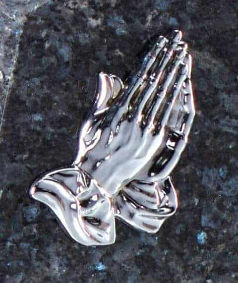 Silver Hand ornament Wales
