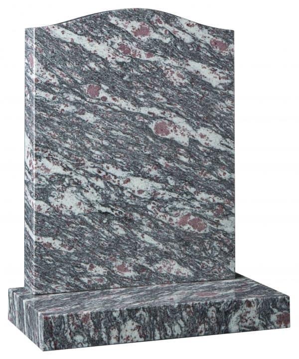 Ogee headstone in Lavender Rose Granite