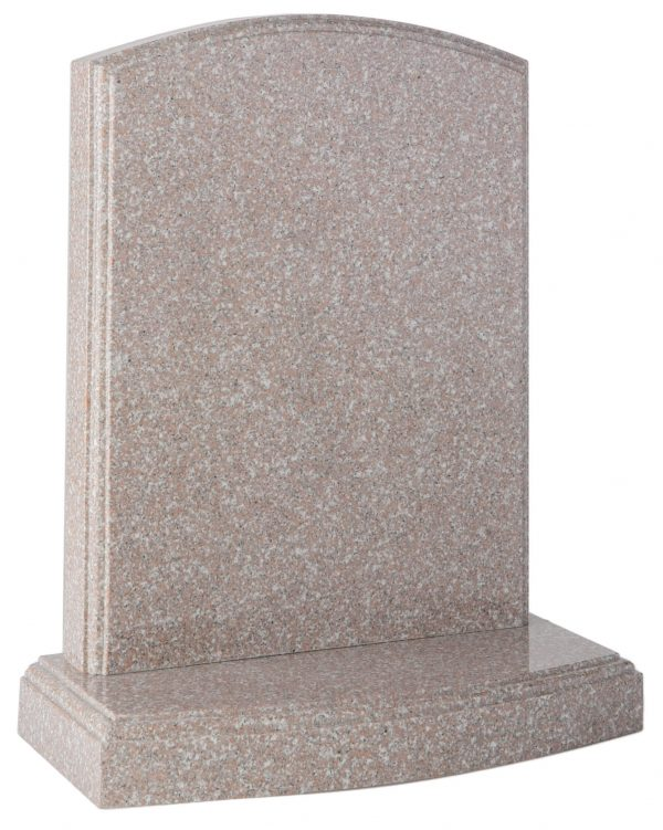 Arc top headstone with moulded edges