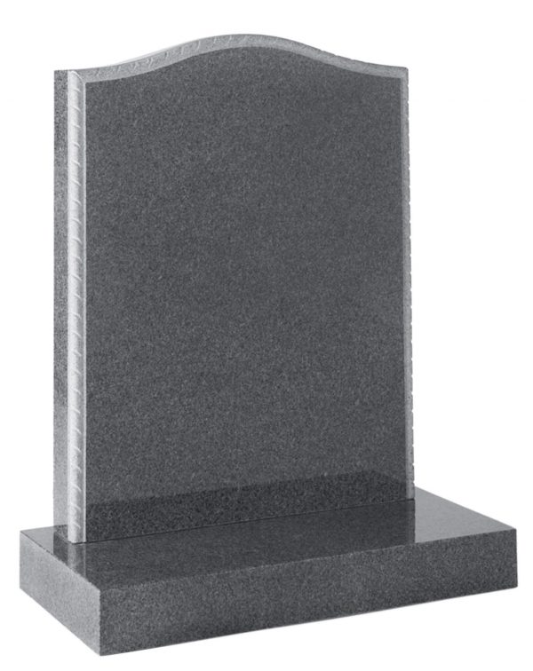 Ogee headstone with Rope Moulded edges