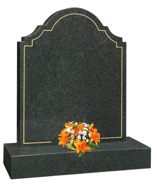 Ornate Headstone with pin line frame