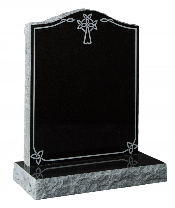 Pitched Ogee Cross and Knot design headstone